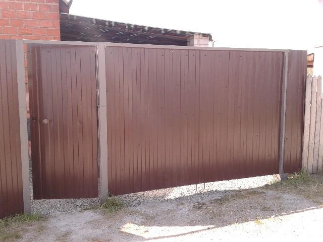 Ворота распашные из профнастила родники откатные ворота въездные с автоматикой и без