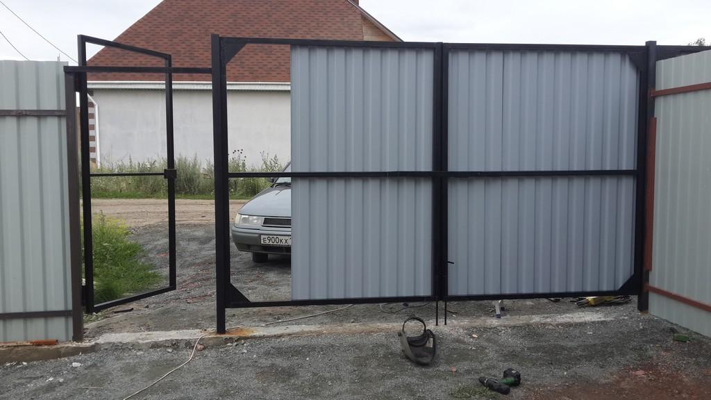 ничего лучше, изготовление железных ворот из профлиста фото бисер