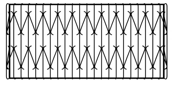 Решетка на балкон, лоджию, с выносом (выпуклая, дутая)