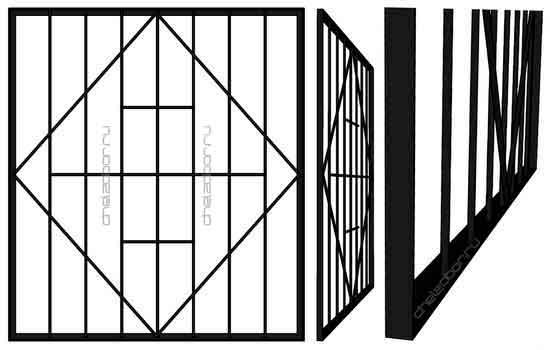 Решетка на окно в уголке