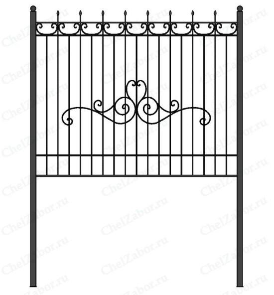 Купить забор из профильной трубы с ковкой | ЧелЗабор