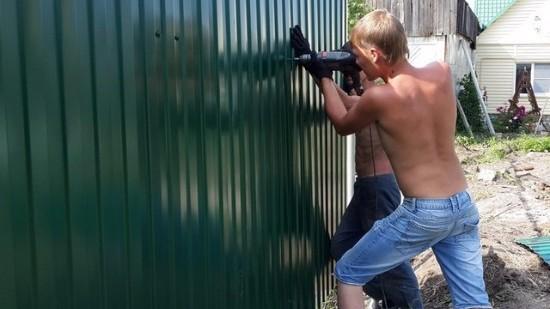 Забор из профнастила цена с установкой   Челябинск