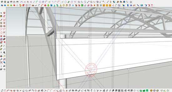 Проектирование навеса из поликарбоната