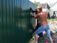 Забор из профнастила цена с установкой | Челябинск